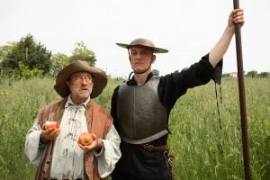 Lucio Dalla e Peppe Servillo nel film Quijote di Mimmo Paladino