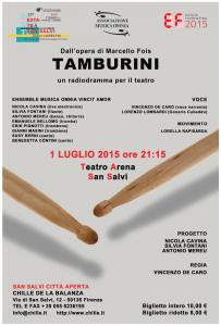 Locandina Tamburini con Vincenzo De Caro
